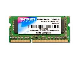 4GB SODIMM DDR3 Patriot