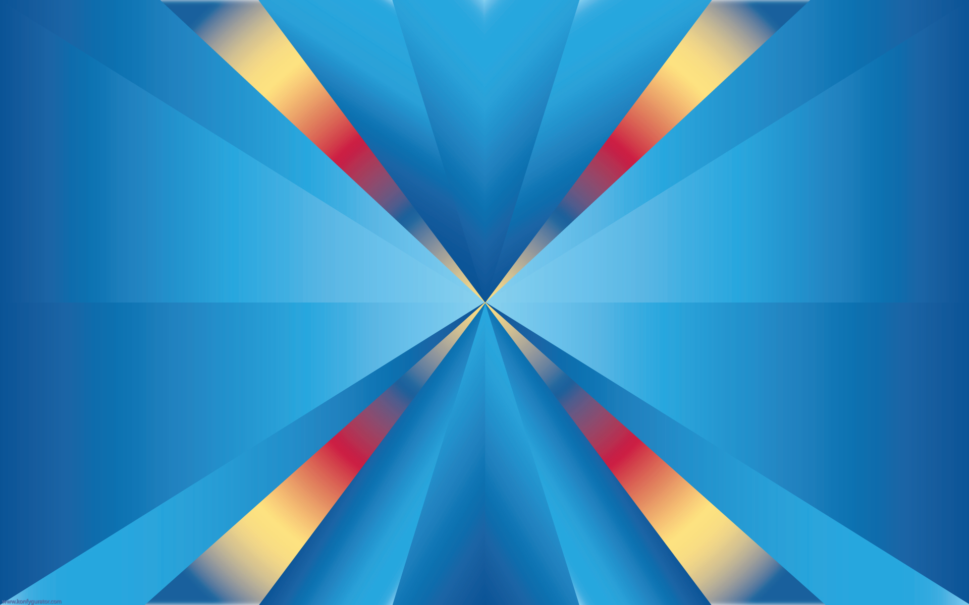 HD Wallpapers - 3D & Abstract - colorful, triangles, center
