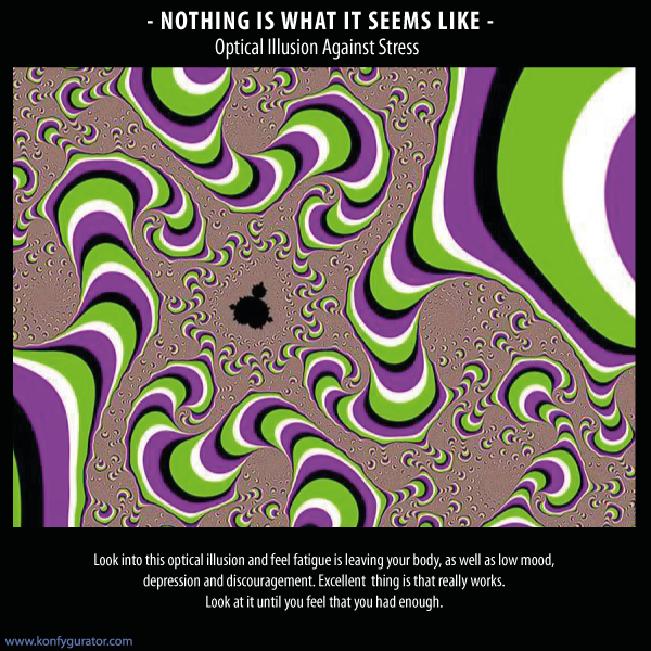 Optical Illusions 3D - Optical Illusion Against Stress
