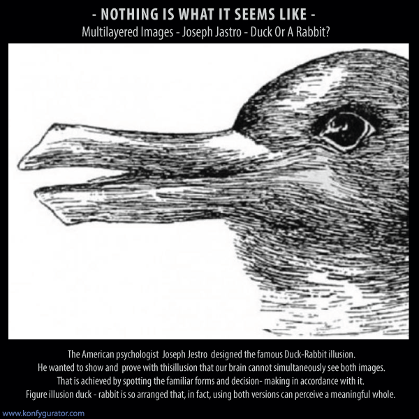 Optical Illusions faces - Multilayered Images - Joseph Jastro - Duck Or A Rabbit?