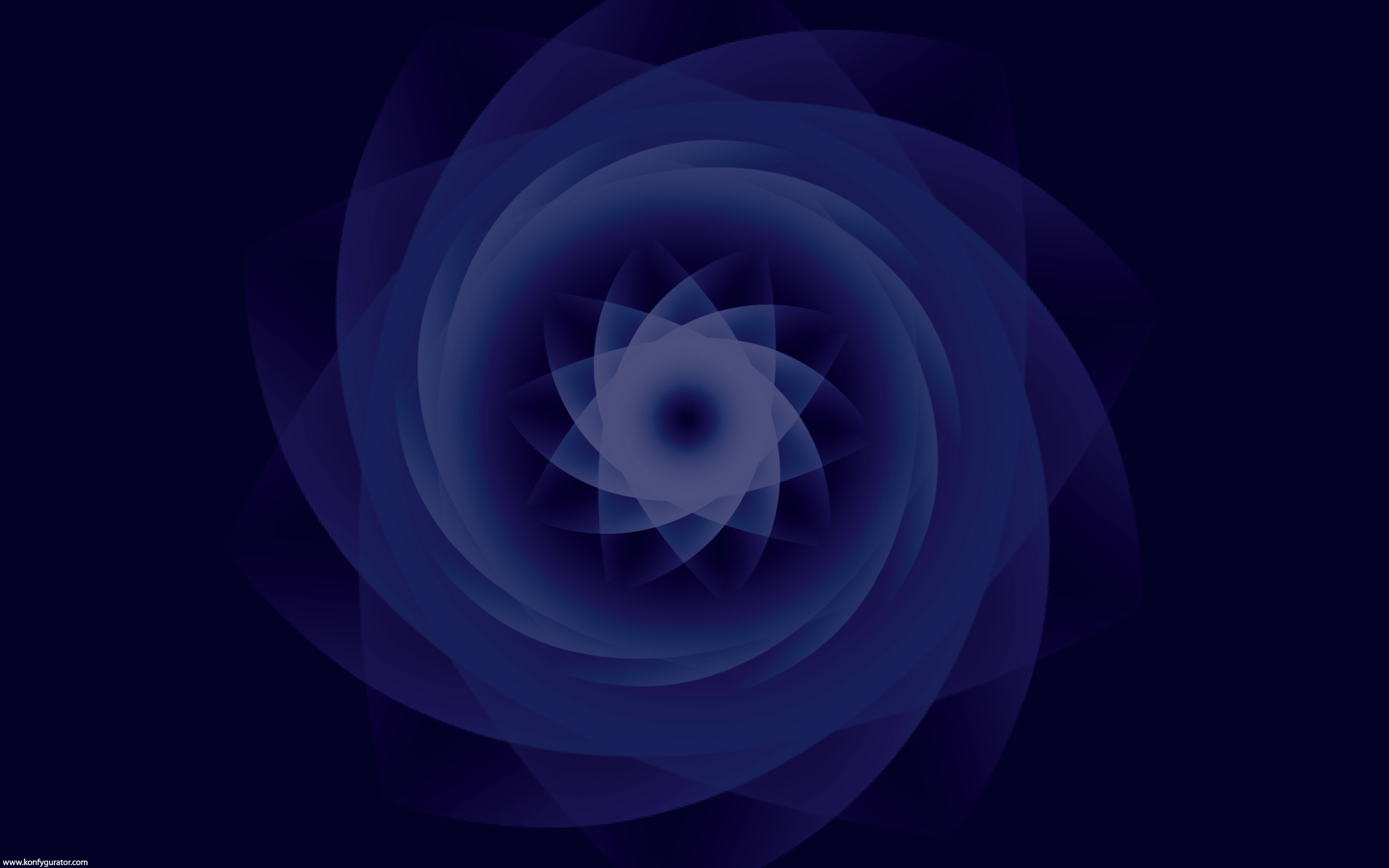 HD Wallpapers - 3D & Abstract - flower, blue, spiral