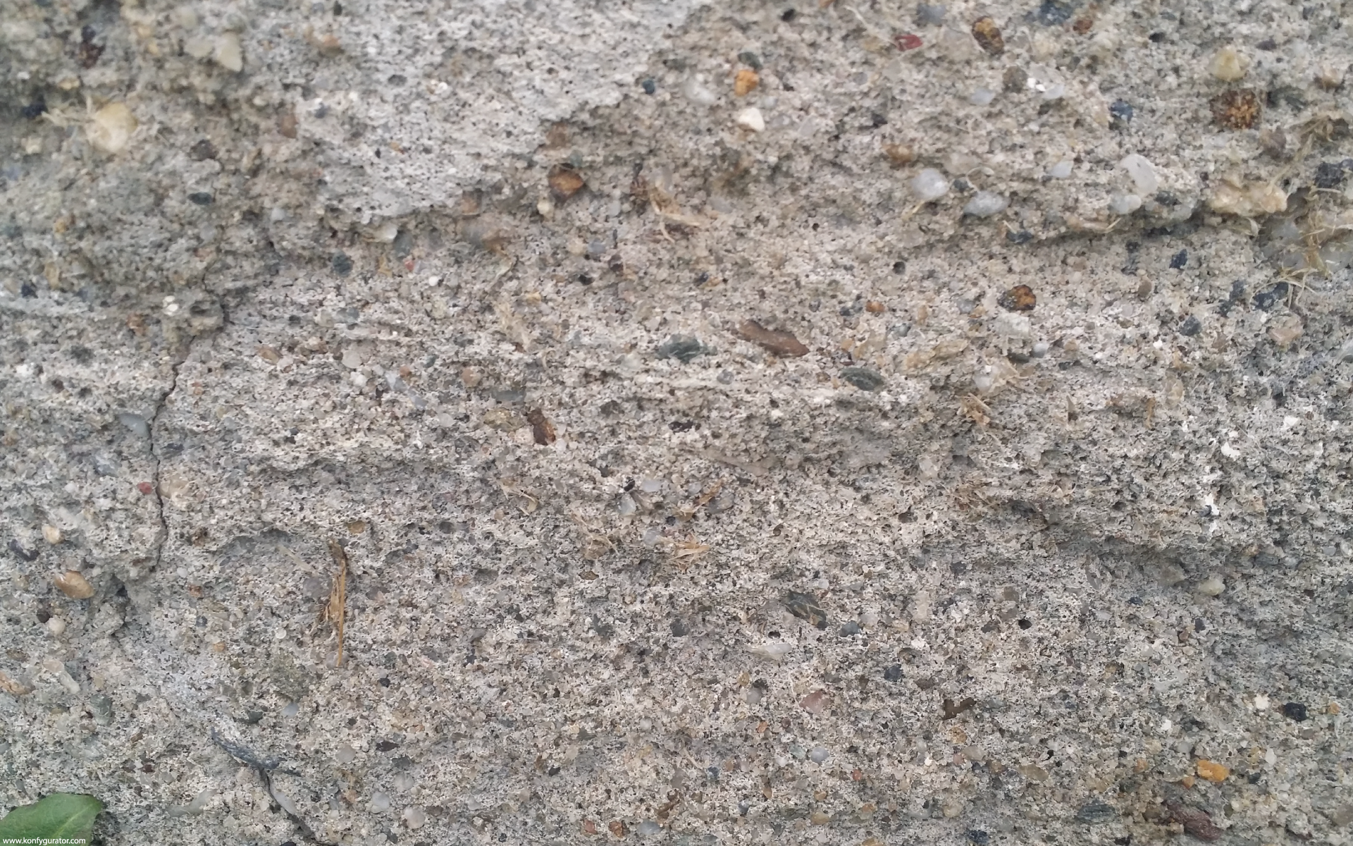 HD Wallpapers - Textures - concrete, gray, leaf